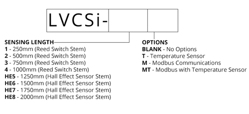 LVCSi Continuous Vertical Level Sensor with Integrated